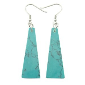 Different Colored Slice Synthetic Turquoise Earring pictures & photos