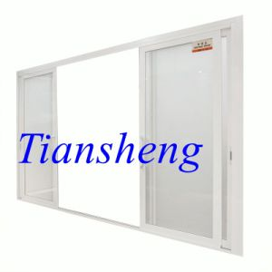 High Quality Customized 100fseries Aluminum Two or Three Tracks Sliding Door with Mosquito Net pictures & photos