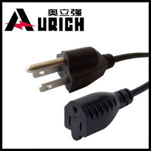 AC Power Cord Us Computer 16AWG IEC C5 3 Pin Plug, Power Cord Set pictures & photos