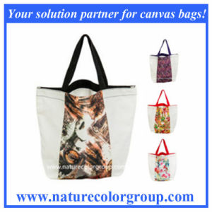 Printed Foldable Tote Polyester Bag with Nylon Handles (SP-5046) pictures & photos