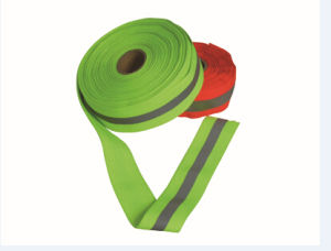 100%Polyester Woven Tape Warning Band pictures & photos