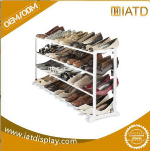 Factory Directly Fruit Vegetable Metal Floor Display Rack with Wheel pictures & photos