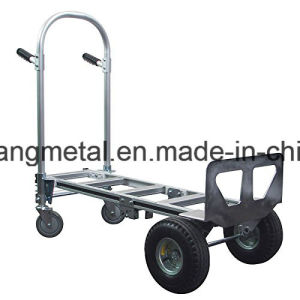 Heavy Duty 2 in 1 Junior Convertible Hand Truck 2 to 4 Wheeler Aluminum pictures & photos