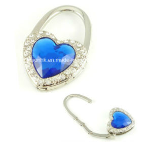 Heart-Shaped Diamond Purse Hook for Promotion Gifts pictures & photos