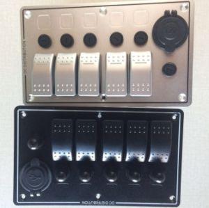 5 Gang Rocker Switch 12V Socket Voltmeter Panel+Voltmeter pictures & photos