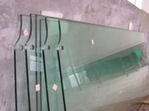 Clear Tempered Safety Glass Door with Slot or Notch pictures & photos