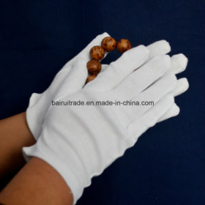 White Cotton Work Gloves for Etiquette pictures & photos