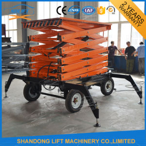 China Electric Hydraulic Mobile Ladder Hydraulic Ladder with Ce pictures & photos