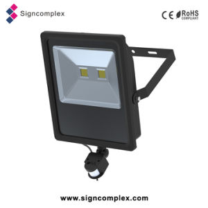 Ultra-Slim PIR 100W LED Flood Light with Sensor with 5 Warranty Years pictures & photos