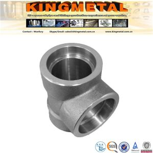"""A182 F316L 6000lbs 4"""" Stainless Steel Forged Pipe Fitting Tee pictures & photos"""