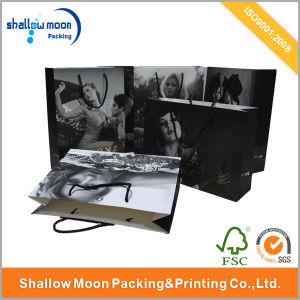 Customized Brands Hot Stamping Paper Shopping Bag (QYCI1527) pictures & photos