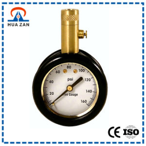 "1.5"" Tire Pressure Gauge with Brass Case, Rubber Boot Protected, 0 to 160 Psi, Release Button pictures & photos"