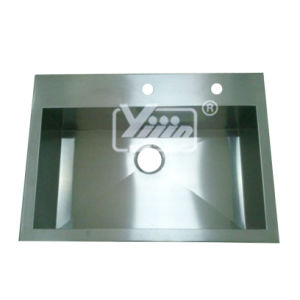 Hand Made Stainless Steel T-304 Square Corner Sink