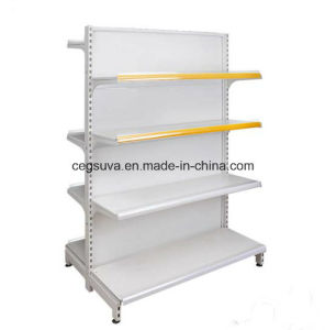 Retail Store & Supermarket Metallic Wood Gondola Shelving pictures & photos