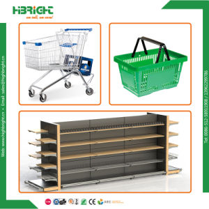 Supermarket Wooden Vegetable and Fruit Display Shelf Racks with End Shelf pictures & photos