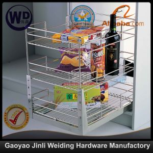 Pull Roll out Wire Larder Drawer Storage Basket B010 pictures & photos