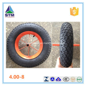Black Steel Rim Air Rubber Wheel pictures & photos