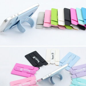 Cell Phone Card Holder One Touch U Silicone Phone Stand pictures & photos