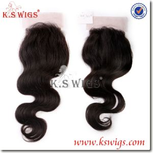 Top Grade 100% Brazilian Hair Free Part Lace Closure pictures & photos
