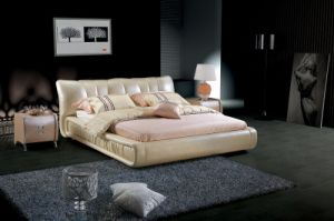 Soft & Comfotable Genuine Leather Bed (SBT-5871) pictures & photos