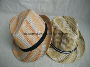 100%Polyester Colorful Fedora Hats