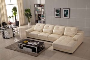 Living Room L Shape Genuine Leather Sofa pictures & photos