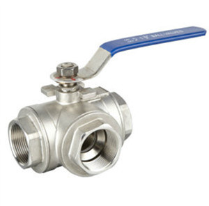 Female 3 Way Floating Ball Valve pictures & photos