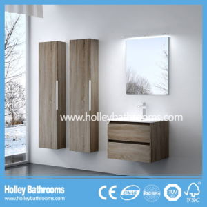 High Ending Modern Bathroom Furniture with Two Side Vanities and Lamp (BF120N)