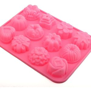 12 Flowers Silicone Cake Baking Mould Craft Mold pictures & photos