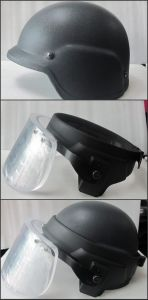 Army Helmet with Visor pictures & photos