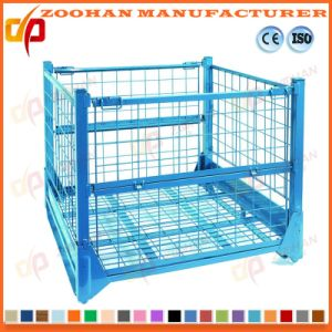 Industrial Stackable Steel Storage Roll Container Wire Mesh Cage (Zhra31) pictures & photos