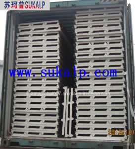Color Steel PU Sandwich Panel Polyurethanes Sandwich Panel for Roof and Wall pictures & photos