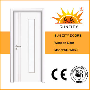 Factory Price Glass Insert Wood Interior Doors (SC-P069) pictures & photos