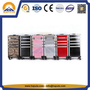Fashionable Aluminium Rolling Cosmetic Makeup Case (HB-3312) pictures & photos