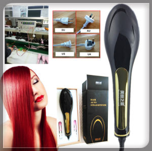 2016 New 100% Original Brush Hair Straightener Comb Irons Come with LCD Display Electric Straight Hair Comb Straightening pictures & photos