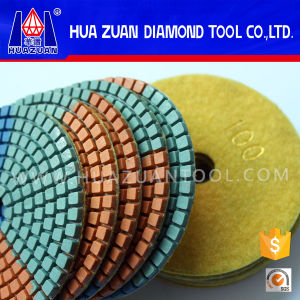 3 Color Diamond Pad Polishing for Granite pictures & photos