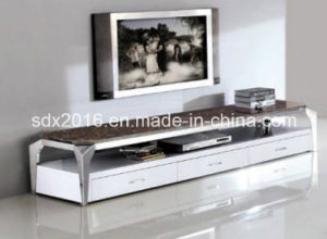 TV Stand / Living Room Furniture / Stainless Steel Table / Home Furniture / Modern Table / Glass Table / Tempered Glass Table Dg009 pictures & photos