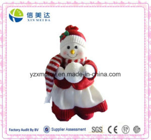 High Quality and Cute Plush Snowman Doll Holding Snowball Toy pictures & photos