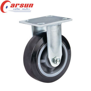 6inches Heavy Duty PU Wheel Caster (with nylon total brake) pictures & photos