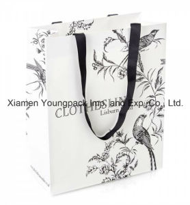Large Custom Printed White Luxury Card Paper Shopping Bag pictures & photos