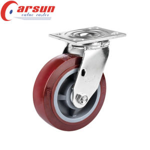 6inches Heavy Duty Swivel Caster with Polyurethane Wheel pictures & photos