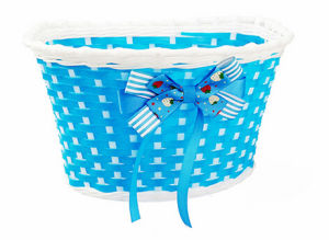 Colorful Bowknot Bicycle Front Basket for Kids Bike (HBK-177) pictures & photos