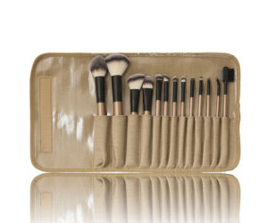 Factory Direct 13PCS High Quality Professional Makeup Brush Set with Fabric Pouch pictures & photos