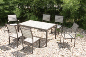 Wooden Lounge Garden Patio Outdoor Dining Furniture (FS-4120+FS-4121+FS-4122) pictures & photos