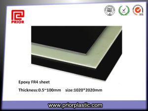 Fr4 Fiber Glass Sheet with Black and Light Green Color pictures & photos