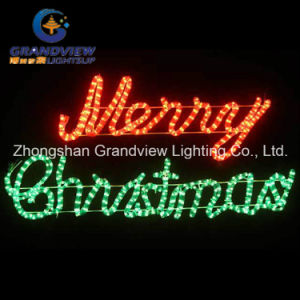 Animated 104cm ′merry Christmas′ Red Green Sign Motif Rope Lights pictures & photos