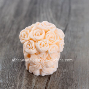 H0126 Flower Silicone Candle Mold Rose 3D Silicon Soap Mould