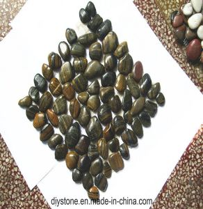 Striped Polished Mosaic Pebble Tile pictures & photos