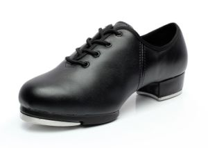 Unisex Black Leather Tap Shoes for Both Men and Women pictures & photos