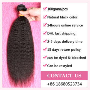 7A Unprocessed Virgin Brazilian Kinky Straight Weft 100% Human Hair pictures & photos